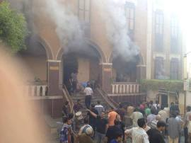 St. Teresa Church in Assiut was burned