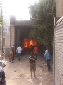 Fire at the Association of Jesuit brothers in Minia