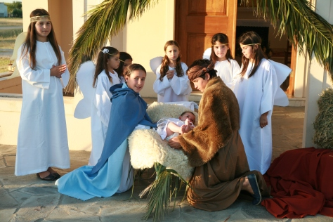 Children's nativity play in Uruguay. AC