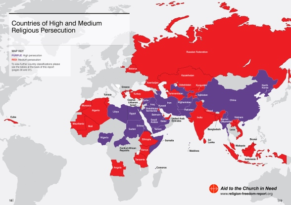 PRESS RELEASE Launch Of Religious Freedom In The World - Religion map of world 2014