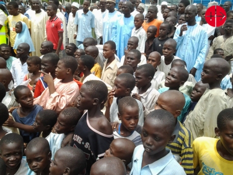 Nigeria, Maiduguri diocese 2014Displaced kids
