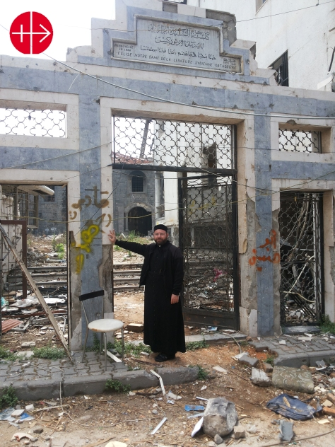 "St. Mayrs Church - Syrian Orthodox in Homs We will come back"" i"